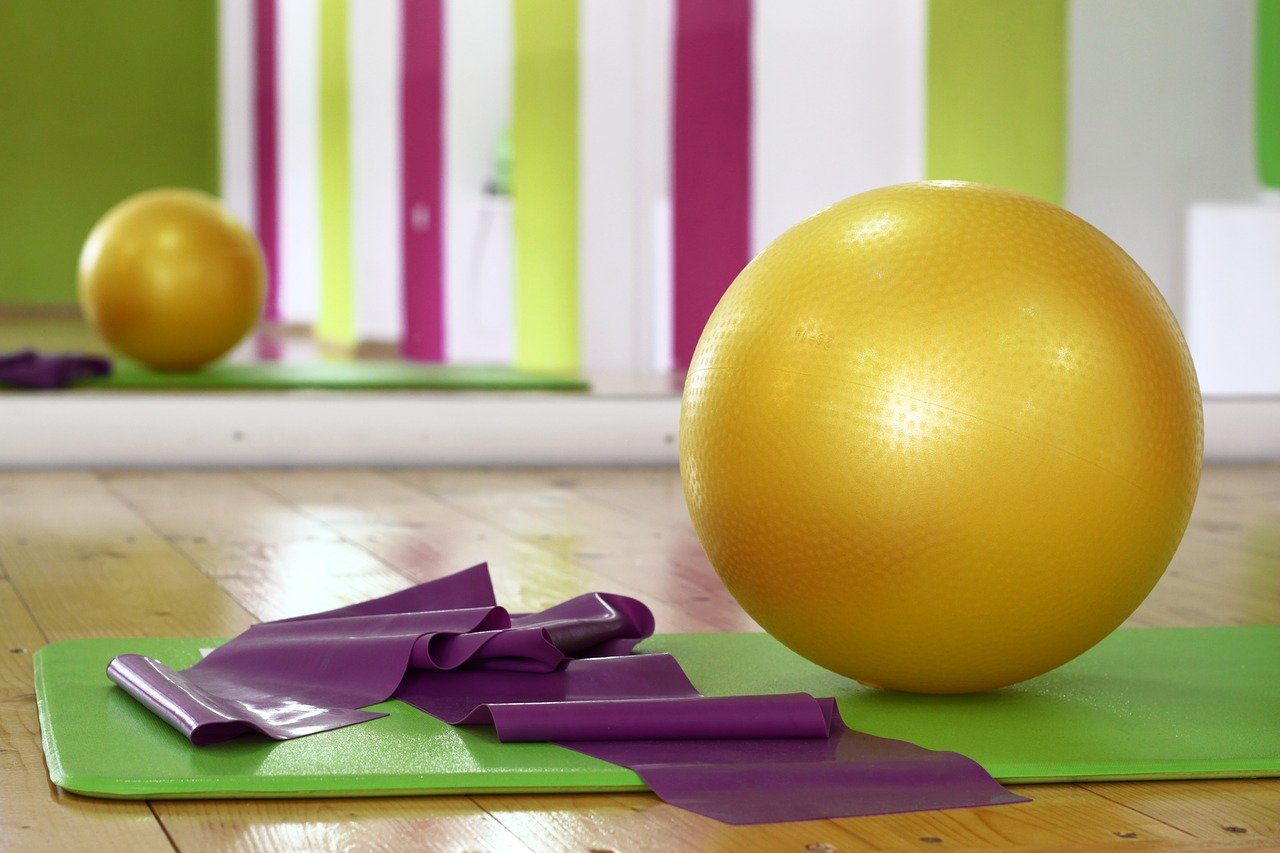 workout, ball, pilates